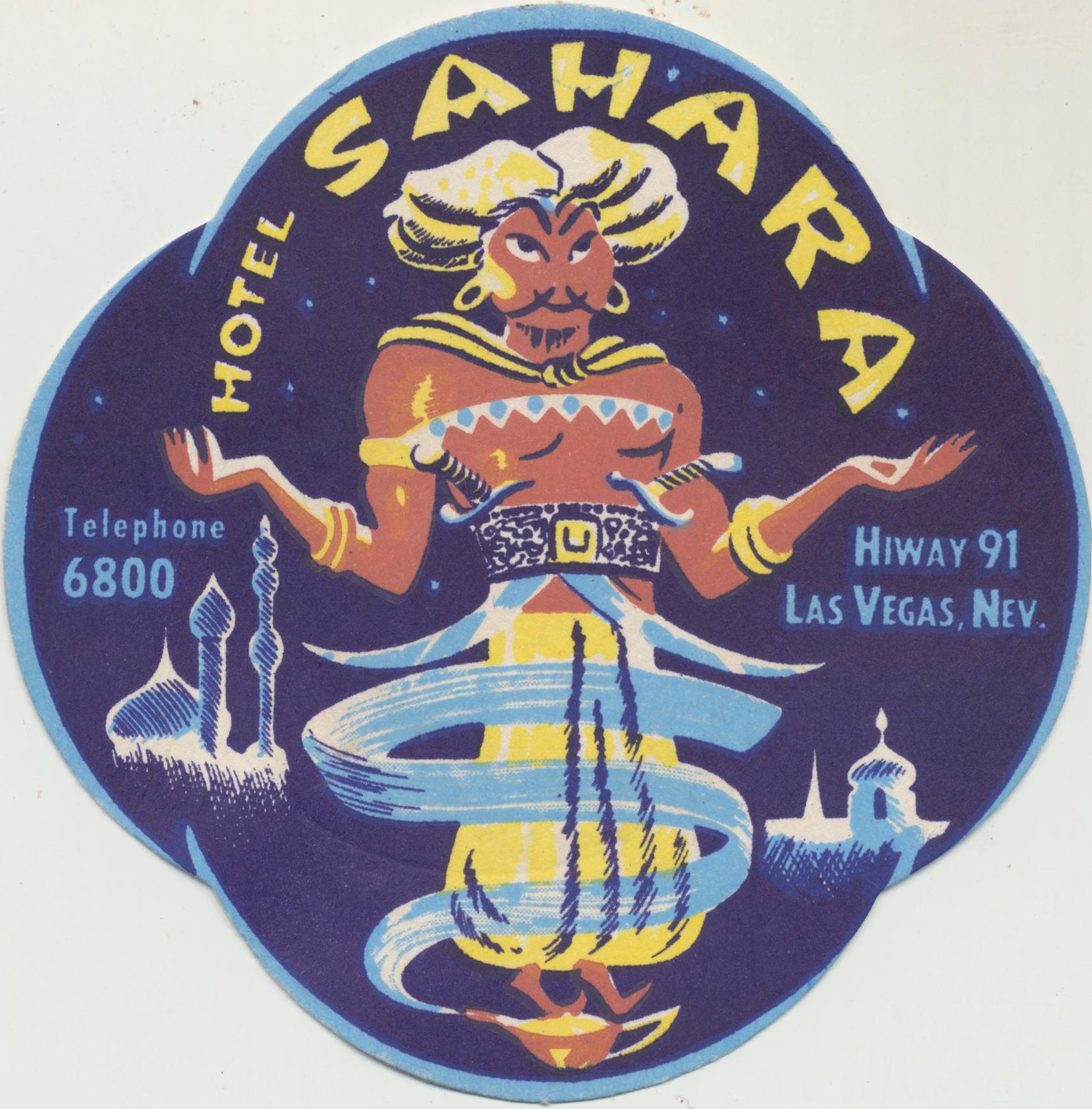 Hotel Sahara coaster - Las Vegas, Nevada U.S.A. - date unknown