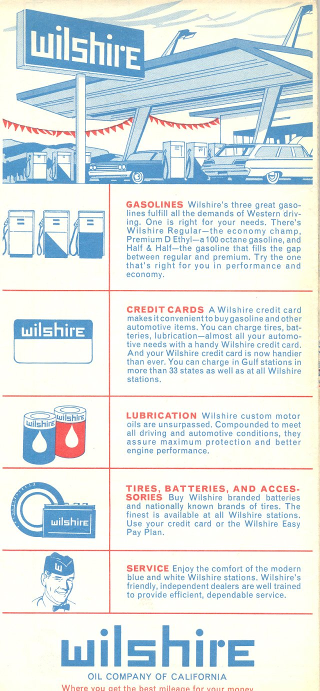 Wilshire map back cover - 1965