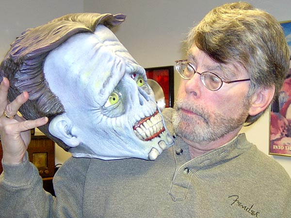 WKIT mascot Doug E. Graves and station co-owner Stephen King