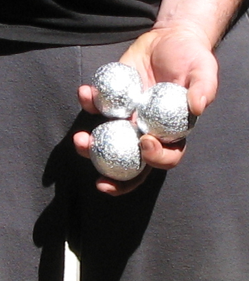 The aluminum foil balls become very smooth after just one run through the dryer.