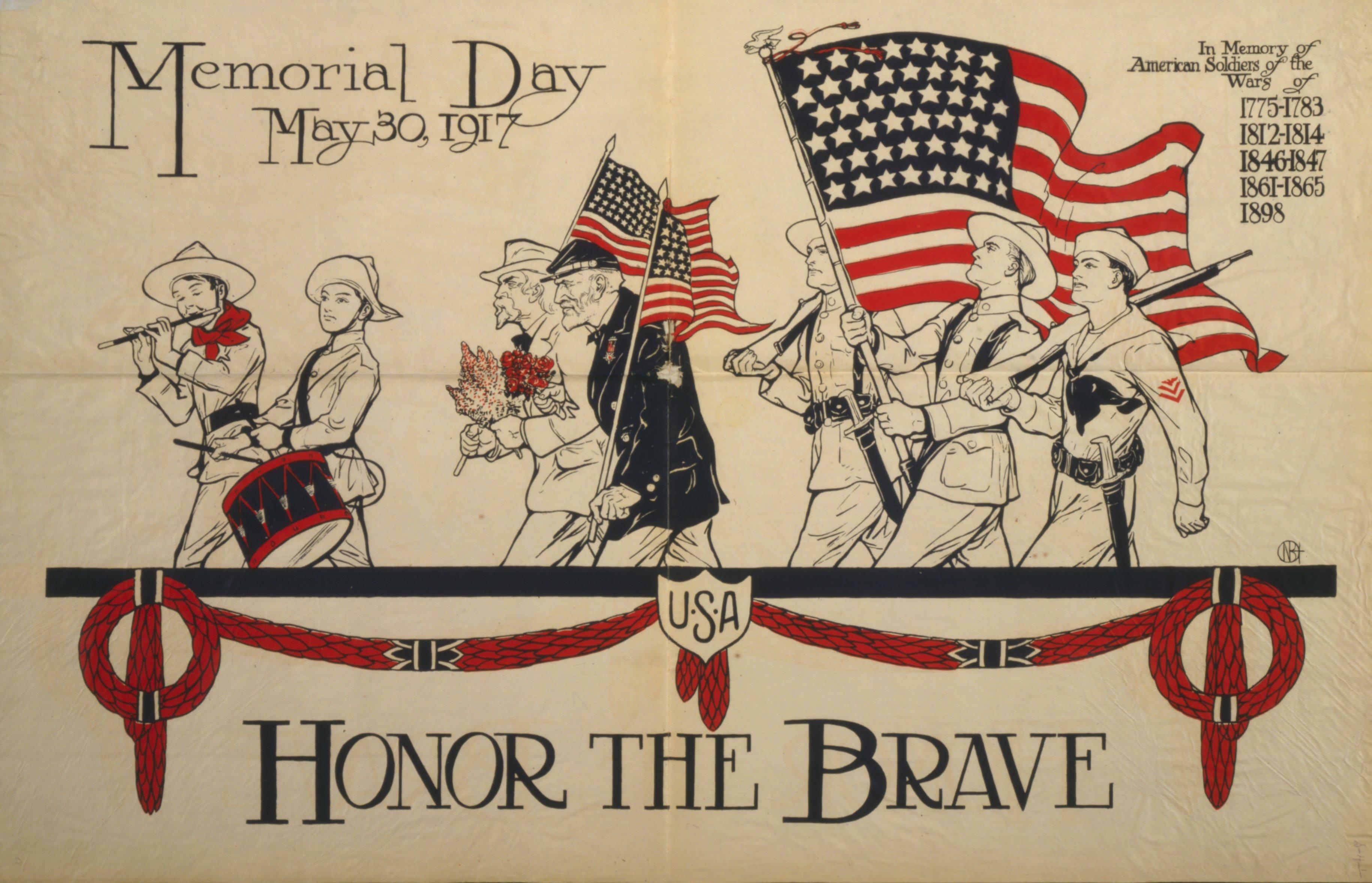 Memorial Day postcard - 1917