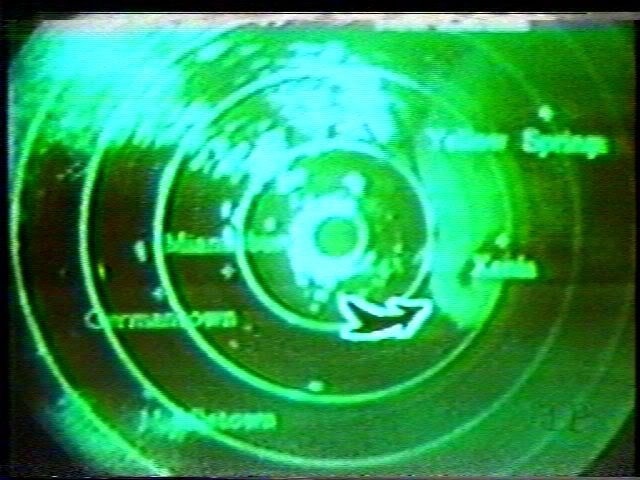 WHIO-TV radar from April 3, 1974